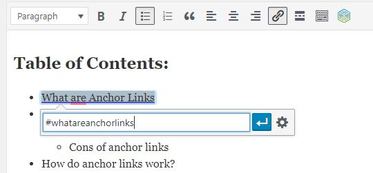 Create Anchor Links in WordPress | Wesley Clover