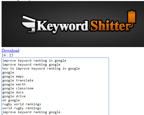 Keyword Shitter - How to improve keyword ranking in Google