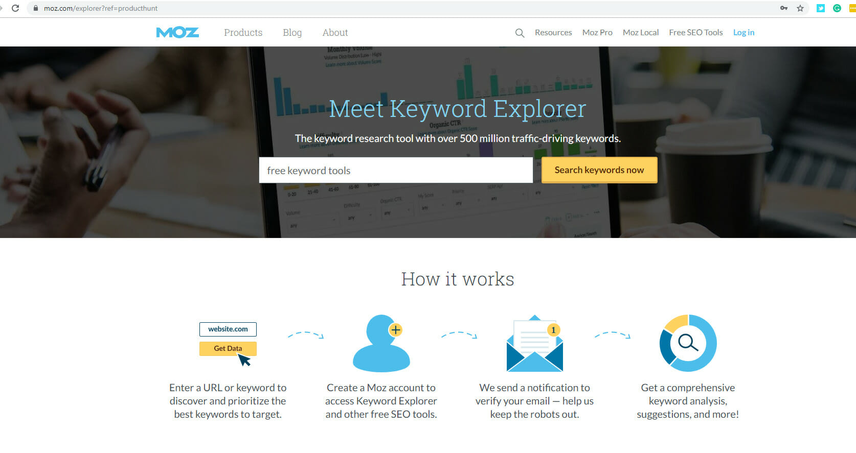 Free Tools for Keyword Search - Moz.com
