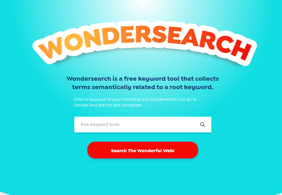 Free Tools for Keyword Search - Wondersearch